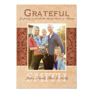 Grateful Fall Photo Card Template Personalized Invites