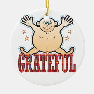 Grateful Fat Man Ceramic Ornament