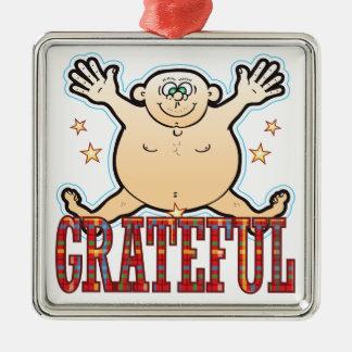Grateful Fat Man Metal Ornament
