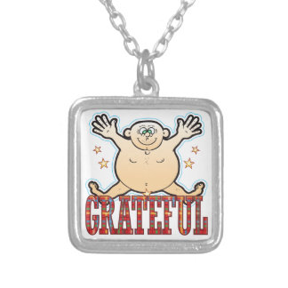 Grateful Fat Man Silver Plated Necklace