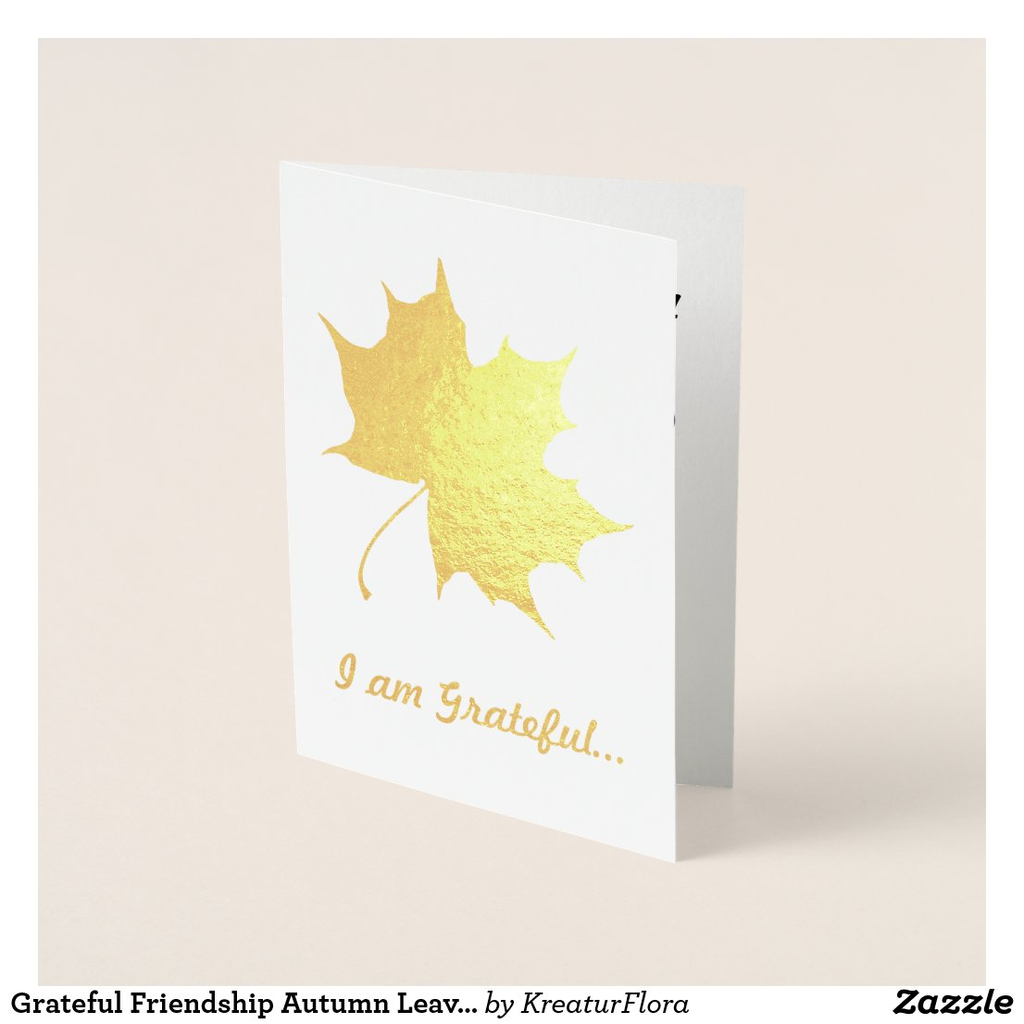 Grateful Friendship Autumn Leaves Custom Text