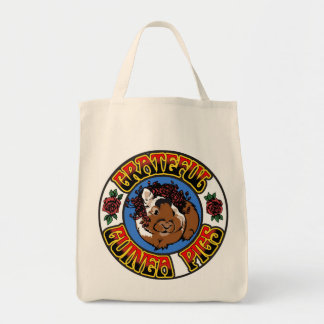 Grateful Guinea Pig Grocery Tote Bag