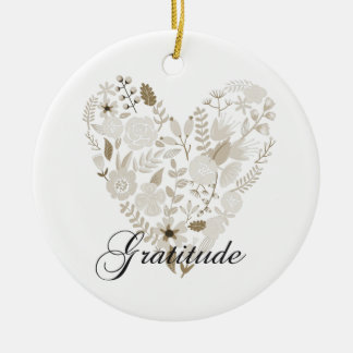 Grateful Heart Ceramic Ornament