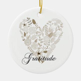 Grateful Heart Ceramic Ornament