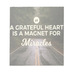 Magnets notepads zazzle grateful heart miracle magnet notepad colourmoves
