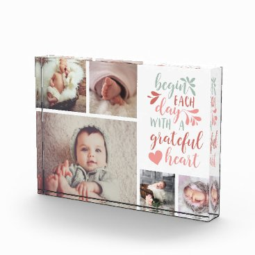 RedwoodAndVine Grateful Heart Photo Collage Block