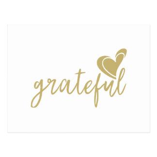 grateful heart postcard