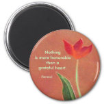 grateful heart quote 2 inch round magnet