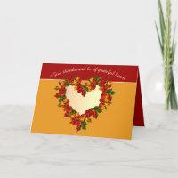 "Grateful Heart Thanksgiving Holiday 5""x7"""