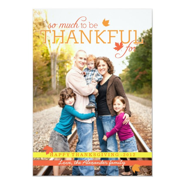 Grateful Leaves Thanksgiving Photo Card