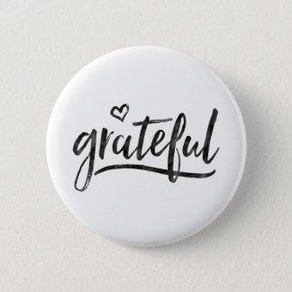 Grateful Minimalistic Custom Background Color Pinback Button