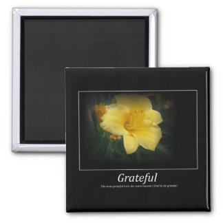 Grateful spring motivation magnet
