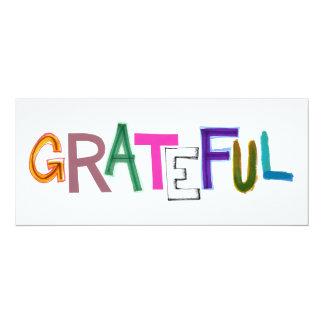 Grateful thank you appreciation fun gratitiude art personalized invites
