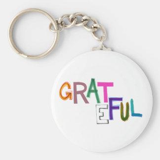 Grateful thank you appreciation fun gratitiude art keychain