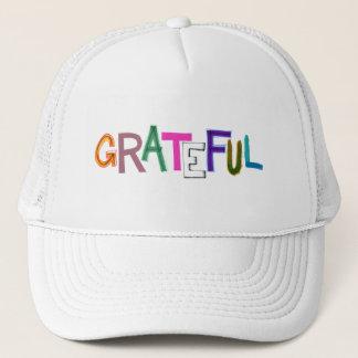 Grateful thank you appreciation fun gratitiude art trucker hat