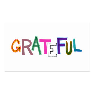 Grateful thank you appreciation modern word art business card