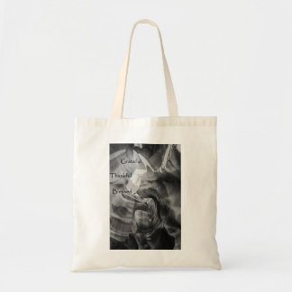 Grateful Thankful Blessed black and white tote