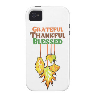 Grateful Thankful Blessed Vibe iPhone 4 Case