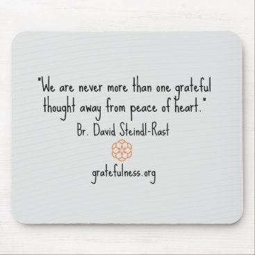 "Gratefulness_Org ""Grateful Thought"" Mousepad"