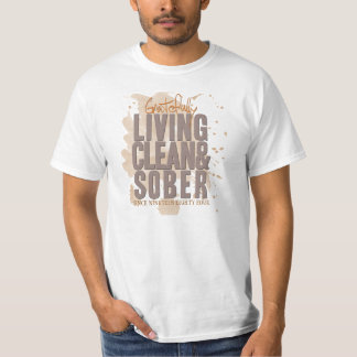 Gratefully Living Clean & Sober Customizable T-Shirt