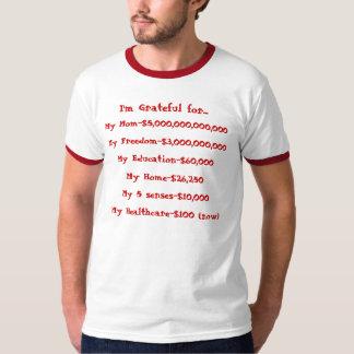 Gratefulness list t-shirt