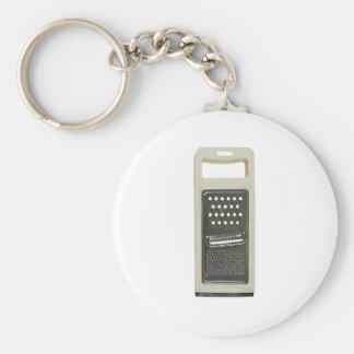 grater basic round button keychain