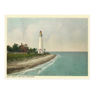 Gratiot Michigan ligero Tarjeta Postal