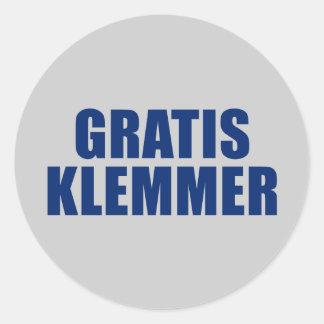 Gratis Klemmer Classic Round Sticker