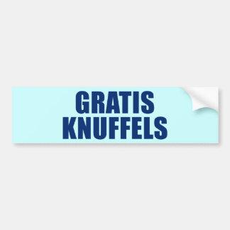 Gratis Knuffels Bumper Sticker