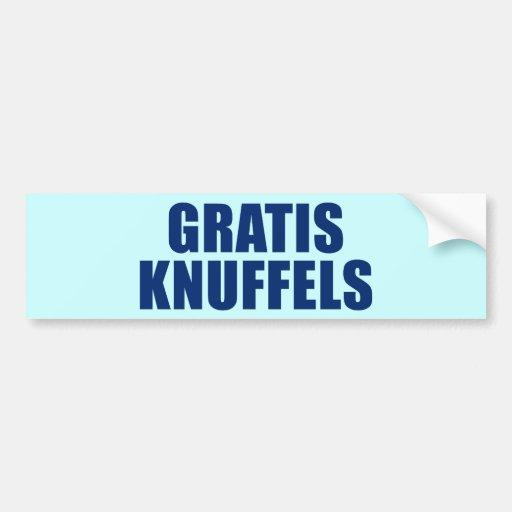 Gratis Knuffels Car Bumper Sticker
