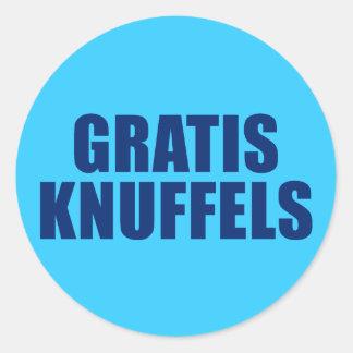 Gratis Knuffels Classic Round Sticker