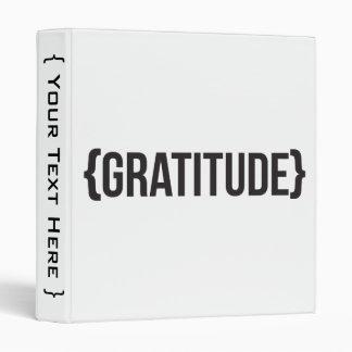 "Gratitud - acorchetada - blanco y negro carpeta 1"""