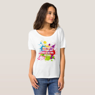 Gratitud - Bella+Camiseta desgarbada del novio de Playera