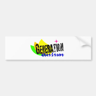 Gratitud de la generación pegatina de parachoque