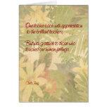 Gratitud del aprecio del profesor tarjeta de felicitación