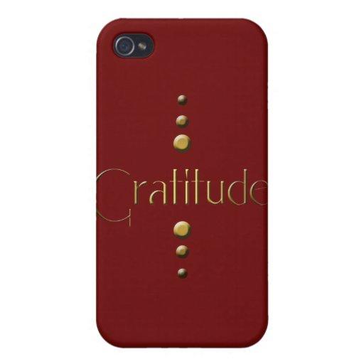 Gratitud del bloque del oro de 3 puntos y fondo de iPhone 4/4S carcasa