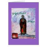 Gratitud en la afirmación Card~ del ~ del rezo Tarjeta