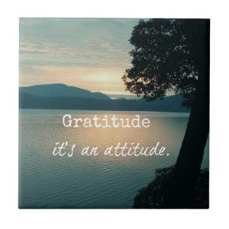 Gratitud: Es una cita de la actitud Azulejos Cerámicos