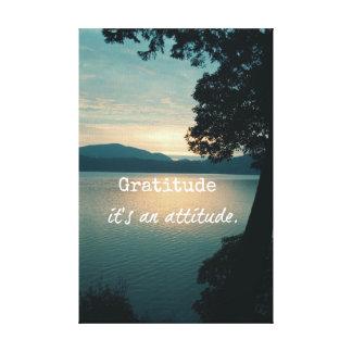 Gratitud: Es una cita de la actitud Impresiones De Lienzo