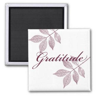 Gratitud inspirada de las palabras iman para frigorífico