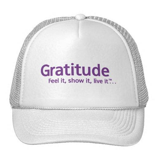 Gratitud - pensamiento Shapers™ Gorras De Camionero