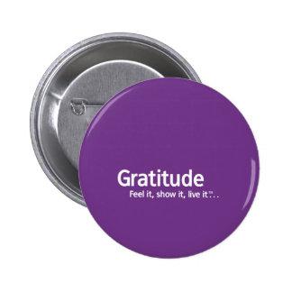 Gratitud - pensamiento Shapers™ Pin Redondo De 2 Pulgadas