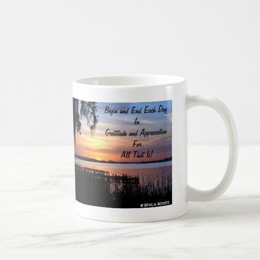 ¡Gratitud y aprecio! Taza De Café