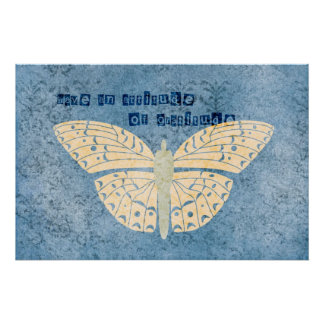 Gratitude Attitude Butterfly Posters