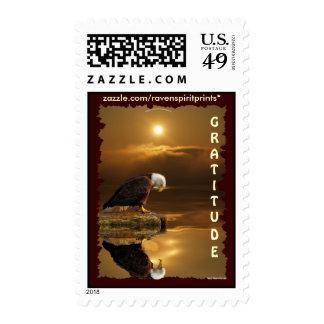 GRATITUDE BALD EAGLE Postage Stamps