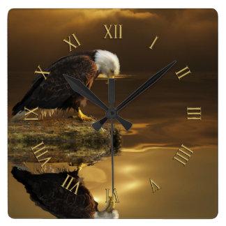 Gratitude Bald Eagle Spiritual Wildlife Clock