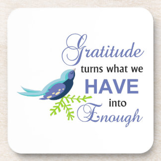 Gratitude Blue Bird Coaster