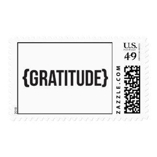Gratitude - Bracketed - Black and White Postage