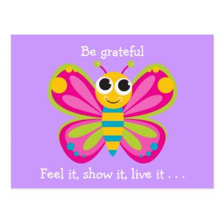 Gratitude Butterfly Postcard