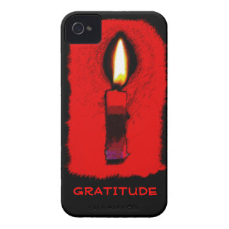 Gratitude Candle iPhone 4/4S Case with Custom Text